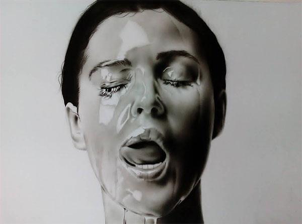 طراحی چهره - نقاشی چهره – هایپر رئال