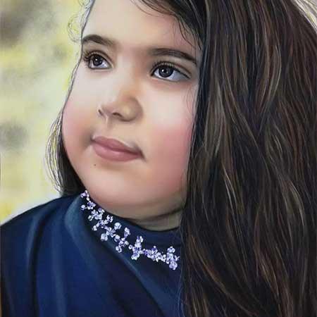 قیمت نقاشی چهره پاستل