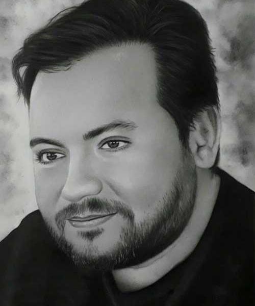 نقاشی چهره سیاه قلم