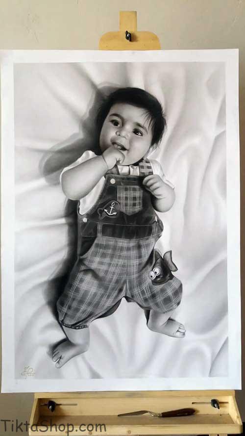 نقاشی چهره کودک , عکس نقاشی , نقاشی چهره |طراحی چهره