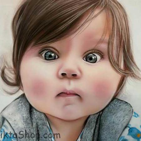 طراحی چهره با مداد رنگی
