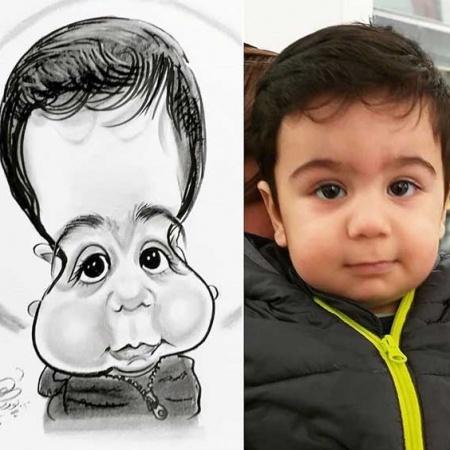 سفارش نقاشی کاریکاتور - سیاه قلم