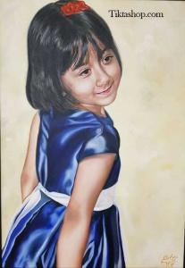 نقاشی کودک با رنگ روغن