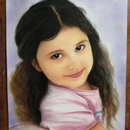 سفارش نقاشی چهره - پاستل