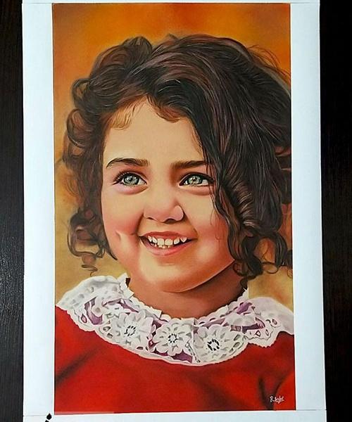 سفارش نقاشی با مداد رنگی