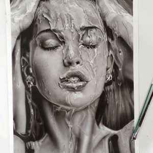 قیمت نقاشی سیاه قلم