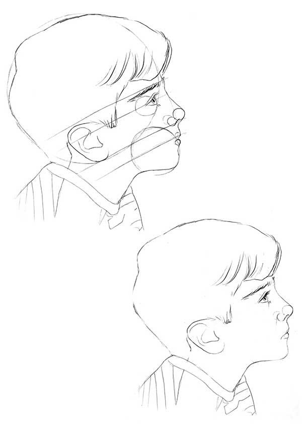 آموزش سیاه قلم چهره