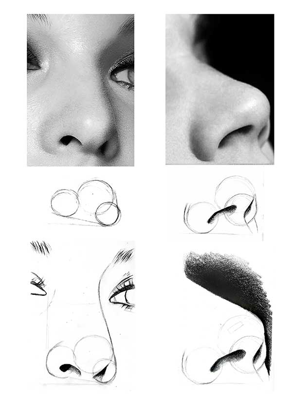 آموزش طراحی بینی