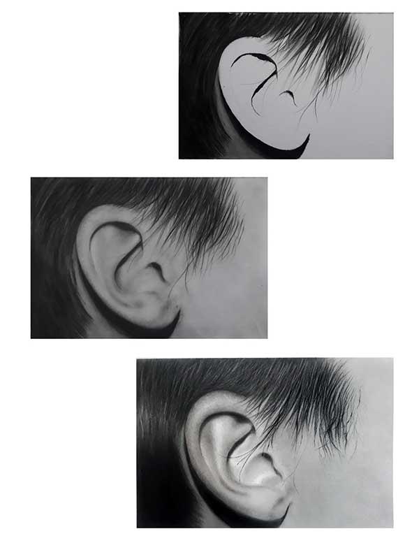 آموزش نقاشی گوش